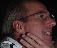 Fotball<br /> Foto: BPI/Digitalsport<br /> NORWAY ONLY<br /> <br /> 12/10/2004 England Press Conference, Hyatt Regency Hotel, Baku, Azerbaijan<br /> Sven Gøran Eriksson shuffles uncomfortably in his seat as he is quizzed over David Beckham's comments