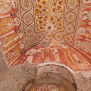 Ornaments in GRapes church, Red Valley in Cappadocia