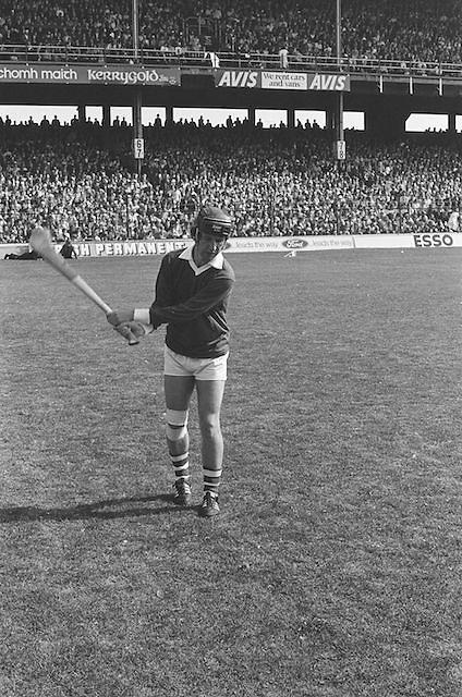 Cork player warming up before kick off at the All Ireland Senior Hurling Final, Cork v Kilkenny in Croke Park on the 3rd September 1972. Kilkenny 3-24, Cork 5-11.