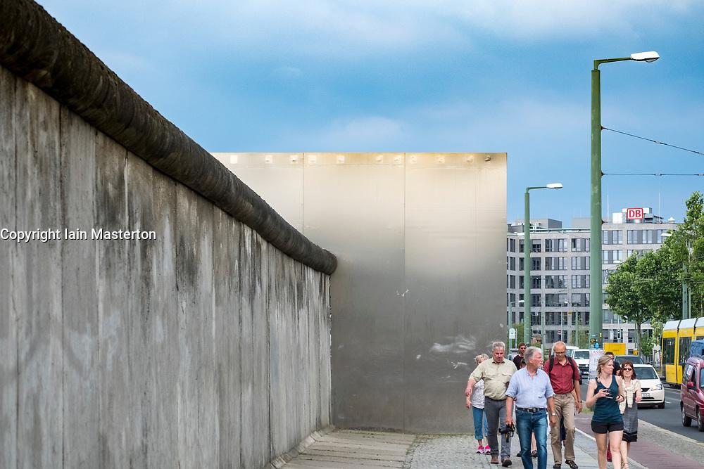 Berlin Wall at Berlin Wall memorial park at Bernauer Strasse in Berlin, Germany