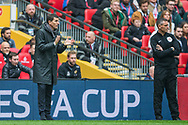 Javi Gracia, Head Coach of Watford FC during the FA Cup semi-final match between Watford and Wolverhampton Wanderers at Wembley Stadium in London, England on 7 April 2019.