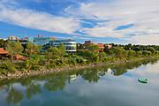Reflection along the South Saskatchewan River