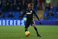 Gaetan Bong of Brighton & Hove Albion in action. EFL Skybet championship match, Cardiff city v Brighton & Hove Albion at the Cardiff city stadium in Cardiff, South Wales on Saturday 3rd December 2016.<br /> pic by Andrew Orchard, Andrew Orchard sports photography.