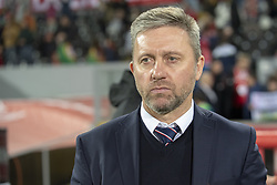 November 20, 2018 - Guimaraes, Portugal - The Polish Coach Jerzy Brzeczek pictured during the UEFA Nations League A Group 3 match between Portugal and Poland at Estadio D. Afonso Henriques in Guimaraes, Portugal on November 20, 2018  (Credit Image: © Andrew Surma/NurPhoto via ZUMA Press)