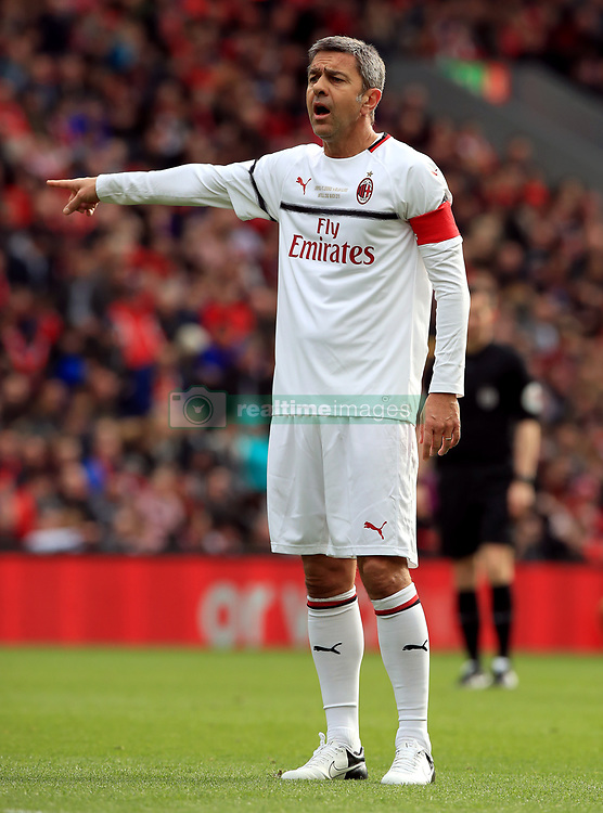 Milan's Alessandro Costacurta during the Legends match at Anfield Stadium, Liverpool.
