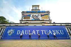 March 24, 2018 - 'Daulat Tuanku' sign (long live the king) seen near the finish line of the seventh stage, the 222.4 km from Nilai to Muar, of the 2018 Le Tour de Langkawi. .On Saturday, March 24, 2018, in Muar, Malaysia. (Credit Image: © Artur Widak/NurPhoto via ZUMA Press)