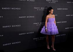 Rihanna arrives at the Fenty Beauty by Rihanna launch party at Harvey Nichols, Knightsbridge, London,