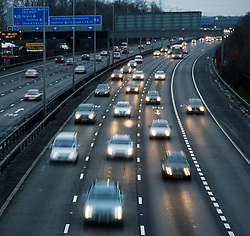© under license to London News Pictures.  23/12/2010. Heavy traffic on the M4 near slough afternoon (23/12/2010) as millions of people take to Britain's roads as the Christmas getaway hits its busiest day. Photo credit should read: London News Pictures.