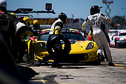 March 15-17, 2018: Mobil 1 Sebring 12 hour. 4 Corvette Racing, Corvette C7.R, Oliver Gavin, Tommy Milner, Marcel Fassler pitstop