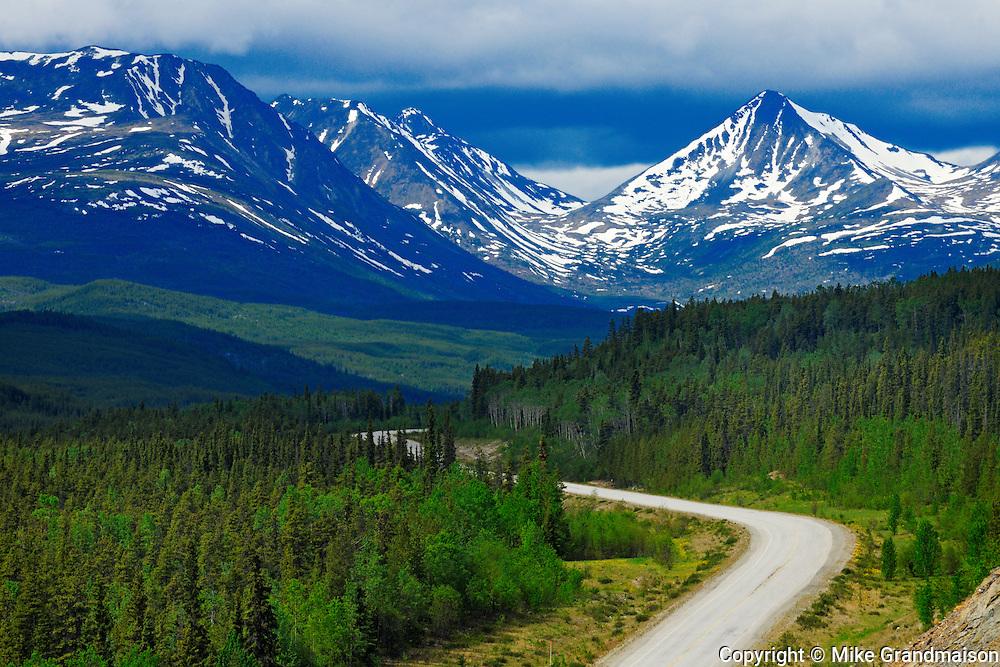 Cassiar Mountains along the Alaska Highway<br /> <br /> Near Watson Lake<br /> Yukon<br /> Canada