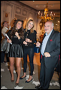 JOJO KOVACS, IMOLA FEDOR, WILLIAM VERES (L-R) at the preview of LAPADA Art and Antiques Fair. Berkeley Sq. London. 23 September 2014.