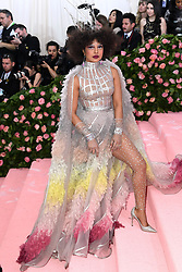 """Photo by: Doug Peters/starmaxinc.com<br />STAR MAX<br />©2019<br />ALL RIGHTS RESERVED<br />Telephone/Fax: (212) 995-1196<br />5/6/19<br />Priyanka Chopra and Nick Jonas at the 2019 Costume Institute Benefit Gala celebrating the opening of """"Camp: Notes on Fashion"""".<br />(The Metropolitan Museum of Art, NYC)"""