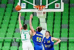 Rok Radovic of Cedevita Olimpija during 1st Leg basketball match between KK Cedevita Olimpija and KK Hopsi Polzela in Quarterfinals of Nova KBM League 2020/21, on May 4, 2021, in Arena Stozice, Ljubljana, Slovenia. Photo by Vid Ponikvar / Sportida