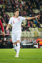November 15, 2018 - Gdansk, Pomorze, Poland - Jan Bednarek (5) during the international friendly soccer match between Poland and Czech Republic at Energa Stadium in Gdansk, Poland on 15 November 2018  (Credit Image: © Mateusz Wlodarczyk/NurPhoto via ZUMA Press)