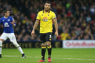 Troy Deeney, the Watford captain looking on.  Premier league match, Watford v Everton at Vicarage Road in Watford, London on Saturday 10th December 2016.<br /> pic by John Patrick Fletcher, Andrew Orchard sports photography.