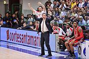 DESCRIZIONE : Campionato 2014/15 Dinamo Banco di Sardegna Sassari - Olimpia EA7 Emporio Armani Milano Playoff Semifinale Gara3<br /> GIOCATORE : Luca Banchi<br /> CATEGORIA : Ritratto Esultanza<br /> SQUADRA : Olimpia EA7 Emporio Armani Milano<br /> EVENTO : LegaBasket Serie A Beko 2014/2015 Playoff Semifinale Gara3<br /> GARA : Dinamo Banco di Sardegna Sassari - Olimpia EA7 Emporio Armani Milano Gara4<br /> DATA : 02/06/2015<br /> SPORT : Pallacanestro <br /> AUTORE : Agenzia Ciamillo-Castoria/L.Canu