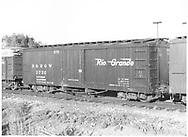 Box car #3732 at Alamosa, CO.<br /> D&RGW  Alamosa, CO  Taken by Richardson, Robert W. - 9/1946