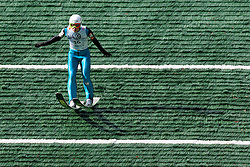 Rok Justin during Slovenian summer national championship and opening of the reconstructed Bloudek's hill in Planica on October 14, 2012 in Planica, Ratece, Slovenia. (Photo by Grega Valancic / Sportida)