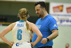 Damir Grgic and Annmaria Prezelj during friendly basketball match between Women teams of Slovenia and Czech Republic before EuroBasket Serbia 2019, on May 31st, 2019 in Arena Tri Lilije, Lasko, Slovenia. Photo by Milos Vujinovic / Sportida