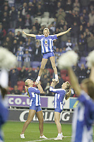 Photo: Dave Howarth.<br /> Wigan Athletic v Bolton Wanderers. Carling Cup.<br /> 20/12/2005. Wigan pre match dancers