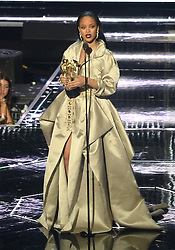 Rihanna with the Michael Jackson Vanguard Award at the MTV Video Music Awards 2016, Madison Square Garden, New York City. Photo credit should read: Doug Peters/EMPICS Entertainment