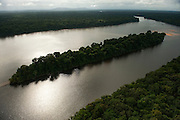 Essequibo River<br /> Longest river in Guyana, and the largest river between the Orinoco and Amazon. Rising in the Acarai Mountains near the Brazil-Guyana border, the Essequibo flows to the north for 1,010 km through forest and savanna into the Atlantic Ocean.<br /> Iwokrama Reserve<br /> GUYANA<br /> South America