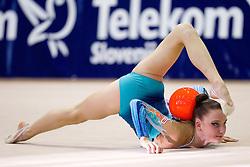 Aliaksandra Narkevich of Belarus during 24th MTM International Youth Tournament in Rhythmic Gymnastics organized by Narodni dom Ljubljana, on April 9, 2011 in Arena Krim Galjevica, Ljubljana, Slovenia.  (Photo By Vid Ponikvar / Sportida.com)