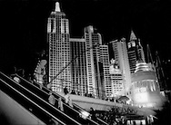 The fantasy of New York, New York casino in an oasis in the Mojave desert, all fueled by water, but is Las Vegas terminally overstretched and a victim of its own unsustainable success, Las Vegas, Nevada, USA.