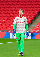 LONDON, ENGLAND - MARCH 31: Wojciech Szczesny of Poland looks on during the FIFA World Cup 2022 Qatar qualifying match between England and Poland on March 31, 2021 in London, United Kingdom. Sporting stadiums around the UK remain under strict restrictions due to the Coronavirus Pandemic as Government social distancing laws prohibit fans inside venues resulting in games being played behind closed doors. (Photo by Wlosek/PressFocus/MB Media)