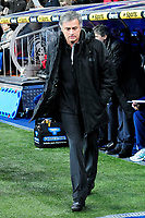 20120128: MADRID, SPAIN - Santiago bernabeu Stadium. Madrid. Spain. Football match between Real Madrid CF and  Real Zaragoza. BBVA League. In picture Jose Mourinho<br /> PHOTO: CITYFILES