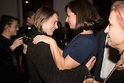 "SARA LUCAS; RACHEL HOWARD, The launch of Rachel Howard's ""Humble Hanger"" -  a limited edition jewellery collaboration with True Rocks.. BlainSouthern, Hanover Sq. London. 18 November 2015"