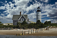 The Sandy Neck Lighthouse established in1826, located at the eastern end of the Sandy Neck peninsula at the entrance to Barnstable Harbor.