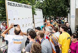 Results at 35th Marathon Franja BTC City 2016, on June 11, 2016 in BTC, Ljubljana, Slovenia. Photo by Vid Ponikvar / Sportida