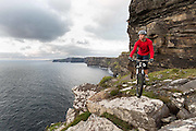 15082013 Mountain biking at the Cliffs of Moher, Co Clare Ireland. Photograph by Eamon Ward info@eamonward.com 00353 872337975  (I have more options and can supply a larger selection if required) Image has Model Release.