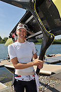 Caversham, Great Britain,  Women's single Scull, GBR W1X, Victoria THORNLEYGB Rowing media day, 2013 World Cup Team Announcement  at the Redgrave Pinsent Rowing Lake. GB Rowing Training centre. Wednesday  05/06/2013  [Mandatory Credit. Peter Spurrier/Intersport Images]