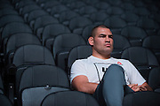 LAS VEGAS, NV - JULY 8:  Cain Velasquez waits backstage before the UFC 200 weigh-ins at T-Mobile Arena on July 8, 2016 in Las Vegas, Nevada. (Photo by Cooper Neill/Zuffa LLC/Zuffa LLC via Getty Images) *** Local Caption *** Cain Velasquez