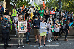 London, UK. 1st September, 2020. Climate activists from Extinction Rebellion and animal rights activists from Animal Rebellion attend a Back The Bill rally in Parliament Square. Extinction Rebellion activists are attending a series of September Rebellion protests around the UK to call on politicians to back the Climate and Ecological Emergency Bill (CEE Bill) which requires, among other measures, a serious plan to deal with the UK's share of emissions and to halt critical rises in global temperatures and for ordinary people to be involved in future environmental planning by means of a Citizens' Assembly.