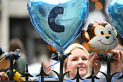 © Licensed to London News Pictures. 24/07/2017. London, UK. Supporters of Charlie Gard at The Royal Courts of Justice in London. The parents of terminally ill Charlie Gard have returned to the High Court in light of new evidence relating to potential treatment for their son's condition. An earlier lengthy legal battle ruled that Charlie could not be taken to the US for experimental treatment. London, UK. Photo credit: Ben Cawthra/LNP