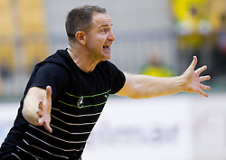 Vladan Matic, head coach of Celje during handball match between RK Celje Pivovarna Lasko and RK Gorenje Velenje in 5th Round of 1. NLB Leasing Handball League 2012/13 on October 3, 2012 in Arena Zlatorog, Celje, Slovenia. (Photo By Vid Ponikvar / Sportida)