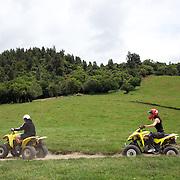 People riding through a quad bike course near Taupo with Taupo Quad Bikes. Taupo, New Zealand. 7th January 2011. Photo Tim Clayton.