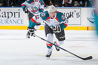 KELOWNA, CANADA - DECEMBER 30: Erik Gardiner #12 of the Kelowna Rockets skates against the Victoria Royals on December 30, 2016 at Prospera Place in Kelowna, British Columbia, Canada.  (Photo by Marissa Baecker/Shoot the Breeze)  *** Local Caption ***