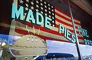 22 DECEMBER 2001, WILLIAMS, ARIZONA: A 48 star American flag hangs in the Pine Country Restaurant in Williams, Arizona, Dec. 22, 2001. .PHOTO BY JACK KURTZ