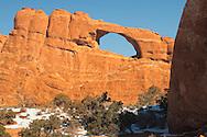 Skyline Arch, Arches National Park, Utah, winter.