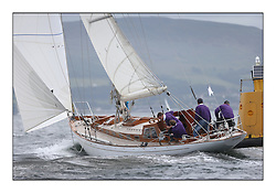 Day one of the Fife Regatta, Round Cumbraes Race.<br /> Sonata, Patrick  Caiger-Smith, GBR, Bermudan Sloop, Wm Fife 3rd, 1950<br /> <br /> * The William Fife designed Yachts return to the birthplace of these historic yachts, the Scotland's pre-eminent yacht designer and builder for the 4th Fife Regatta on the Clyde 28th June–5th July 2013<br /> <br /> More information is available on the website: www.fiferegatta.com