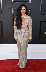 Celebrities arrive on the red carpet for the 59th Grammy Awards held at the Staples Centre in downtown Los Angeles, California. 12 Feb 2017 Pictured: Demi Lovato. Photo credit: MEGA TheMegaAgency.com +1 888 505 6342