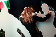 Giorgia Meloni. Evento di chiusura della campagna elettorale del partito Fratelli d'Italia ad Ostia. Roma 17 novembre 2017. Christian Mantuano / OneShot<br /> <br /> Giorgia Meloni. Closing day of the electoral campaign of Fratelli d'Italia in Ostia municipality in Rome suburbs. Rome, November 17, 2017. Christian Mantuano / OneShot