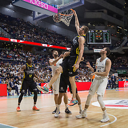 May 31, 2018 - Madrid, Madrid, Spain - Fran Vázquez (C) during Real Madrid victory over Iberostar Tenerife (83 - 73) in Liga Endesa playoff 1st round (game 1) celebrated in Madrid at Wizink Center. May 27th 2018. (Credit Image: © Juan Carlos Garcia Mate/Pacific Press via ZUMA Wire)