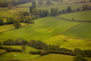 North Yorkshire moor, view over the farmland in a valley