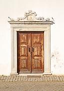 Manueline doorway architectural features, village of Alvito, Baixo Alentejo, Portugal, southern Europe