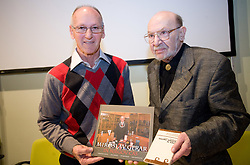 "Miro Cerar and Vlado Slamberger at presentation of a new book of one of the best Slovenian gymnast Miro Cerar named ""Miroslav Cerar in njegov cas - Miroslav Cerar and his time"" at his 70 years anniversary, on October 30, 2009, in Hotel Mons, Ljubljana, Slovenia.   (Photo by Vid Ponikvar / Sportida)"
